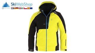 Spyder, Orbiter, ski-jas, heren, acid geel/zwart