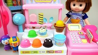 Baby doll and Pororo Ice Cream Shop and Kinder Joy toys