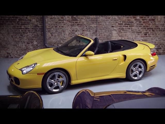 porsche 996 cabrio in gelb als gebrauchtwagen in k ln f r. Black Bedroom Furniture Sets. Home Design Ideas