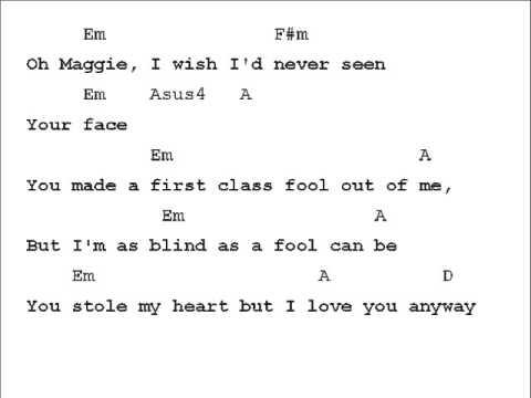 Rod Stewart Maggie May Chord Chart Chords
