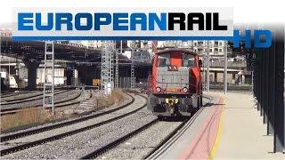 Renfe 311 loco 311-145 passes Vigo Guixar Station
