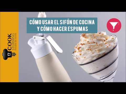 Cómo usar un sifón de cocina y cómo hacer espumas
