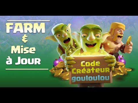LIVE Farm et Discussion Mise à Jour - Code Créateur gouloulou sur Clash of Clans