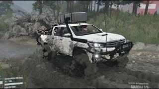 Toyota Hilux 4x4 Offroad | Ruta Por Montaña, Cruzando Fosas De Agua, Ríos Y Mucho Barro