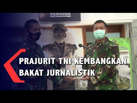 prajurit tni kembangkan bakat jurnalistik