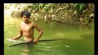 - Ăn cá sấu. (Lối sống người rừng)