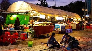 HIT THE FLOOR: EATING ON THE FLOOR AT PHNOM PENH RIVERFRONT NIGHT MARKET | Cambodia