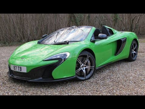 2015 McLaren 650S Spider Start Up, Test Drive, and In Depth Review