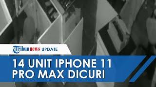 14 Unit HP iPhone 11 Pro Max Raib, Pelaku Punya Kunci Konter hingga Aksinya Terekam Kamera CCTV