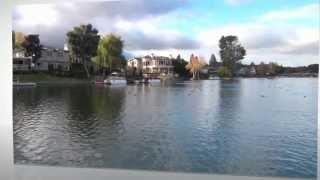 Luxury homes along  Westlake Lake.