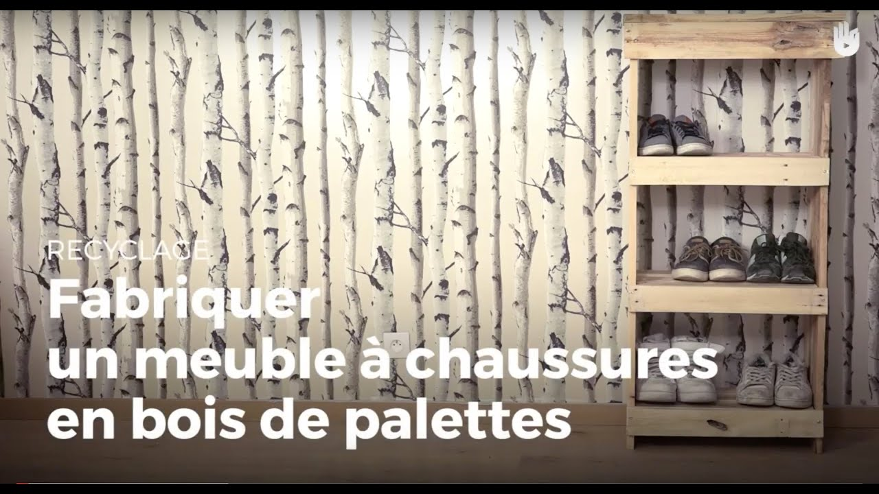fabriquer un meuble chaussures en bois de palettes fabriquer des meubles avec des palettes. Black Bedroom Furniture Sets. Home Design Ideas