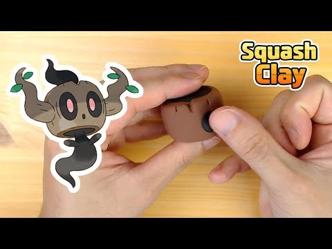How to Make Phantump Halloween Pokémon in Clay