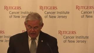 Menendez Visits Rutgers Cancer Institute, Condemns NIH Budget Cuts