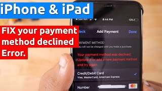 """Apple """"Your Payment Method Was Declined"""" Error, How to Fix?"""