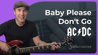 Riff #16: Baby Please Don't Go - AC/DC, Them (Songs Guitar Lesson RF-016) How to play