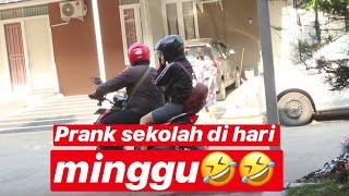 PRANK ELLEN TELAT SEKOLAH DI HARI MINGGU!! WKWKWKWKWK