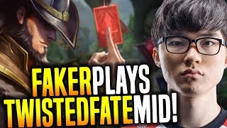 Faker Wants to Play Twisted Fate Mid! - SKT T1 Faker SoloQ Playing Twisted Fate Mid | SKT T1 Replays
