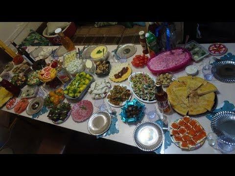 Праздничный стол на день рождения /Меню на праздник