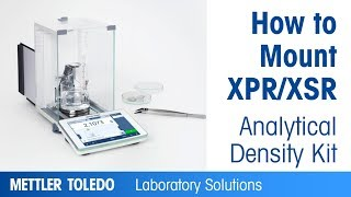 How to mount XPR/XSR analytical filter weighing kits