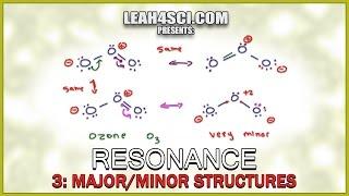 Major and Minor Resonance Contributors Orgo Tutorial by Leah Fisch (Vid 3/4)
