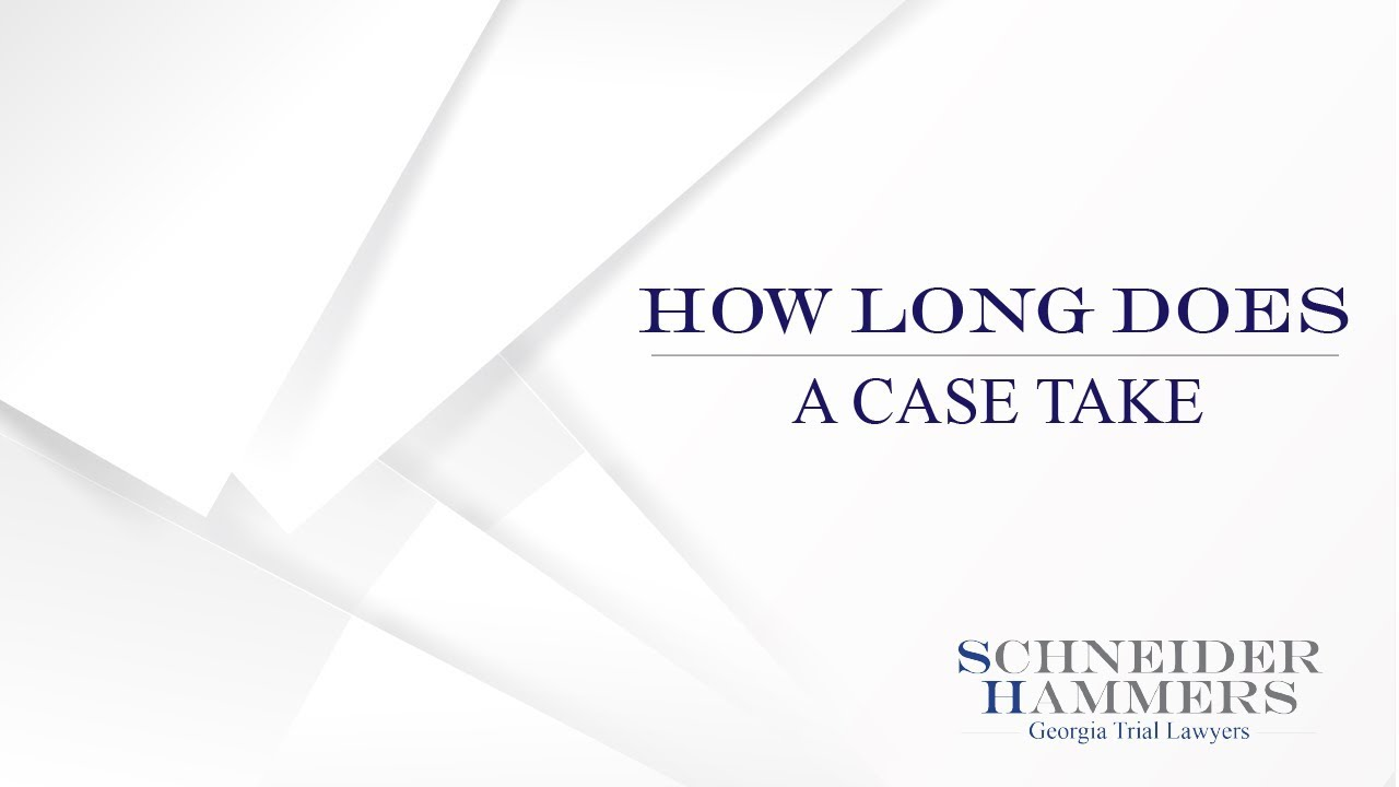How long does a Personal Injury Case take