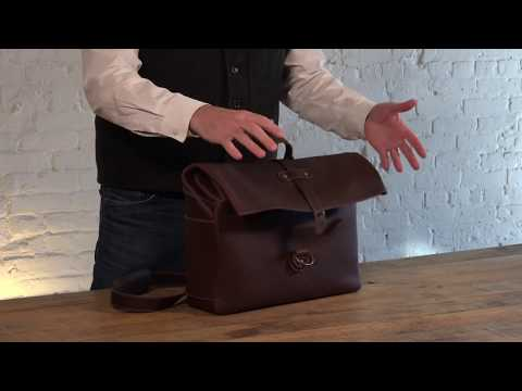 Heritage Leather Men's Satchel Bag Video
