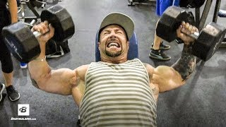 Chest & Shoulders Workout | Day 44 | Kris Gethin's 8-Week Hardcore Training Program by Bodybuilding.com