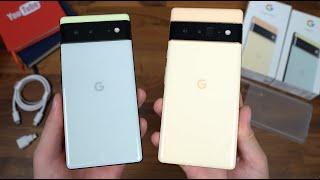 Google Pixel 6 Pro Unboxing: Pixel 6 vs Pixel 6 Pro!