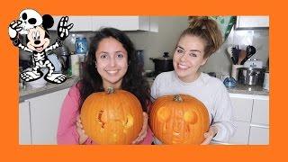 Disney Pumpkin Carving (with Lisa)!