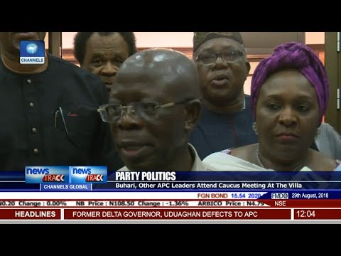 Buhari, Other APC Leaders Attend Caucus Meeting At The Villa