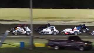 Creek County Speedway Non-Wing Champ Sprints B Main 9/20/14