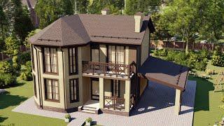 Проект дома 129-B, Площадь дома: 129 м2, Размер дома:  10x10 м