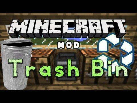 Minecraft Mod Reviews: Trash Bin! (HD)