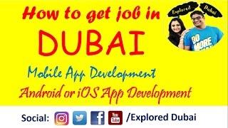 How To Get Job In Dubai   Mobile Application Development Jobs In Dubai