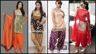 New Stylish Punjabi Party Wear Suit Designs/Punjabi Suits Designs With Dhoti Salwar/Brite Beauty