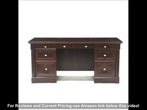 Sauder Palladia Executive Desk, Select Cherry finish