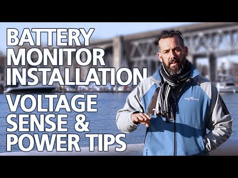 Tips - Battery Monitor Installation & Voltage Sense Wiring