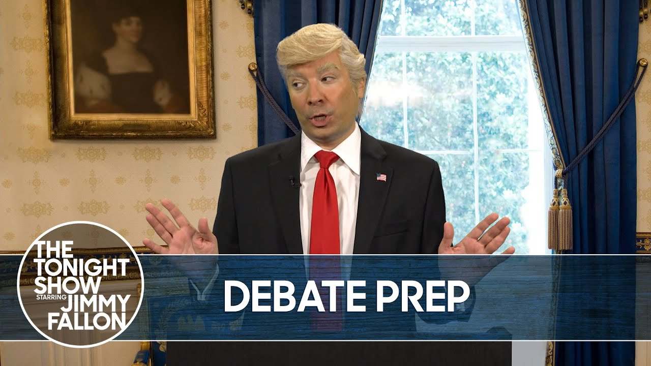 Trump Prepares for His Debate Against Vice President Biden | The Tonight Show thumbnail