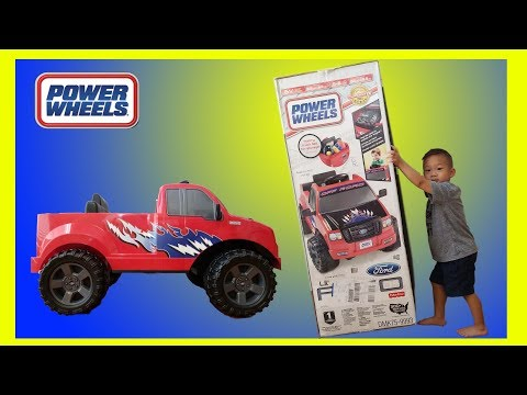 Toddler Unboxing Ford Little F-150 6V Battery Power Wheels Electric Ride On Toy Car