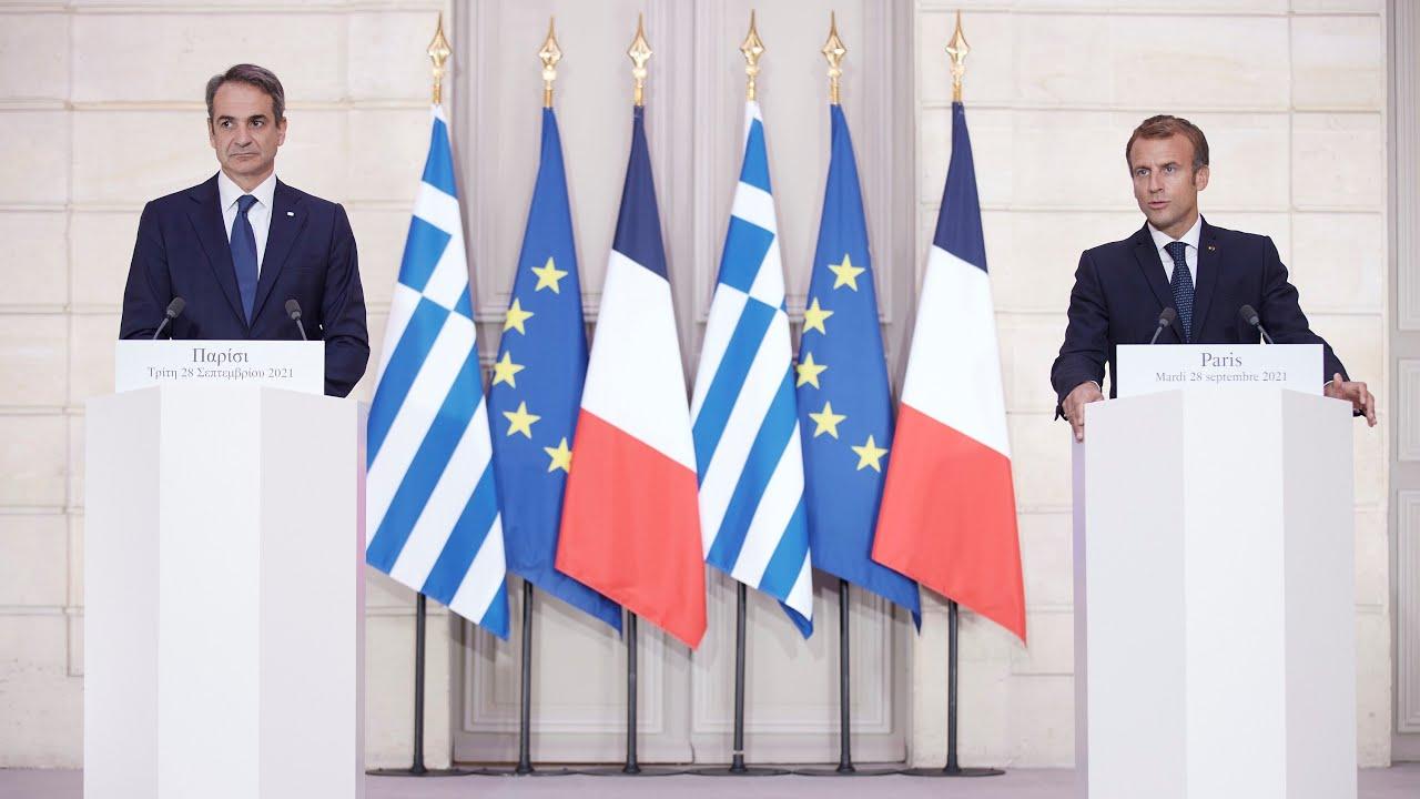 Δηλώσεις Πρωθυπουργού Κυριάκου Μητσοτάκη και Προέδρου της Γαλλικής Δημοκρατίας Emmanuel Macron
