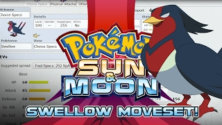 Swellow  - (Pokémon) - Swellow Moveset Guide! How to use Swellow! Pokemon Sun and Moon! w/ PokeaimMD!