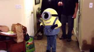 Home Made Stuart Minion Costume From Despicable Me.