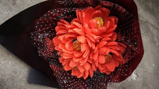 ABC TV | How To Make Valentine's Day Paper Flower Bouquet From Crepe Paper - Craft Tutorial