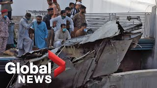 Pakistan passenger plane crashes near Karachi, 98 people on board