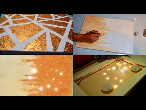 DIY | 5  Minutes Wall art | Easy to Make | Glitters Painting
