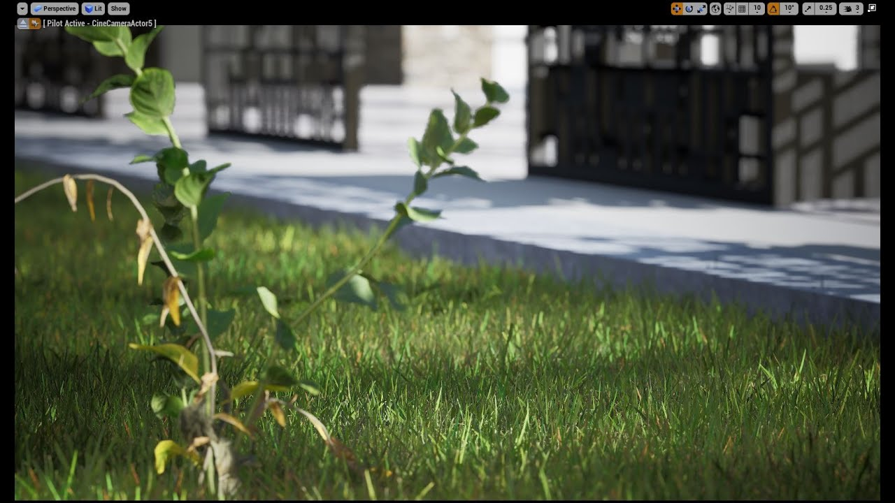 Unreal Engine 4 Arch-viz Tutorial Course  part 5-1 Realistic Grass