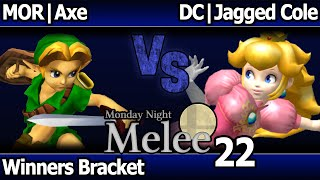 MNM 22 Melee - MOR   Axe (Young Link) vs DC   Jagged Cole (Peach) - Winners Bracket