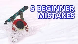 #7 Snowboard begginer – Common snowboard mistakes & fixes