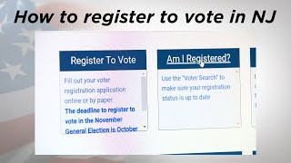 How to register to vote in NJ for 2020 election