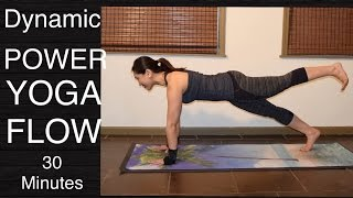 Dynamic Power Vinyasa Flow Yoga Workout for Total Body Strength - 30 Minutes by Yoga Upload